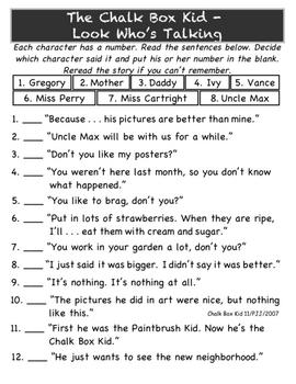 Chalk Box Kid Literature Unit