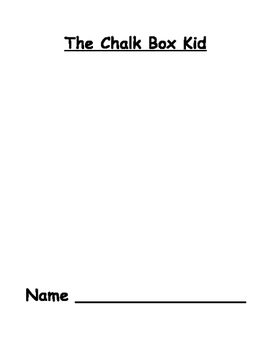 Chalk Box Kid Novel Study