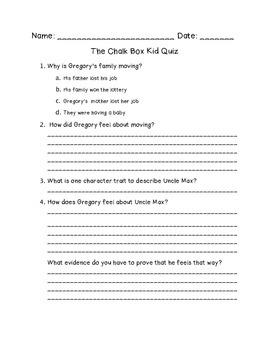 Chalk Box Kid Quiz