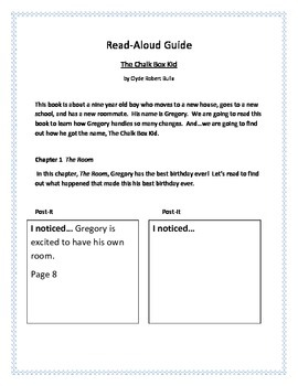 Chalk Box Kid Comprehension Read-Aloud Guide