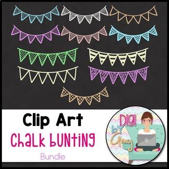 Chalk Bunting Clip Art BUNDLE