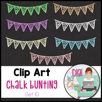 Chalk Bunting Clip Art Set 10