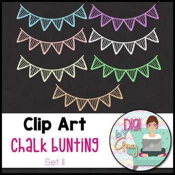 Chalk Bunting Clip Art Set 11