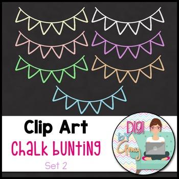 Chalk Bunting Clip Art - Set 2