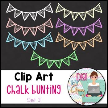 Chalk Bunting Clip Art Set 3