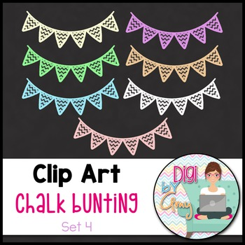 Chalk Bunting Clip Art - Set 4