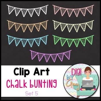 Chalk Bunting Clip Art Set 5