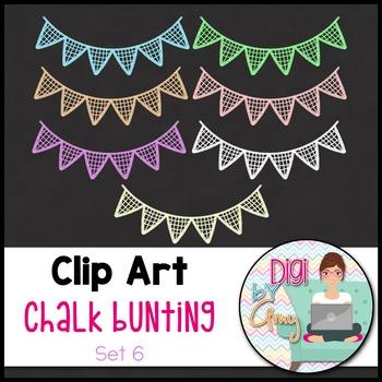 Chalk Bunting Clip Art Set 6