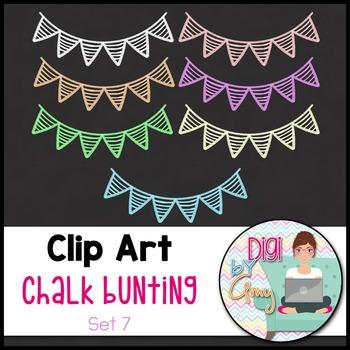 Chalk Bunting Clip Art Set 7