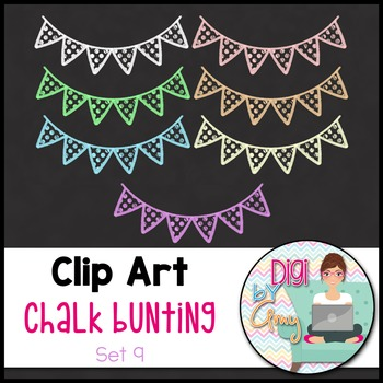 Chalk Bunting Clip Art Set 9
