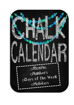 Chalk Calendar- Chalkboard Theme