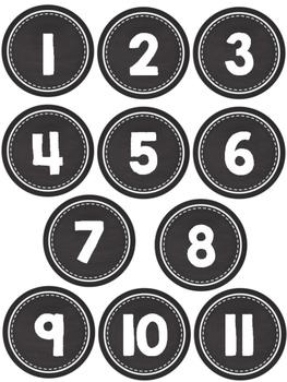 Chalk Calendar Numbers