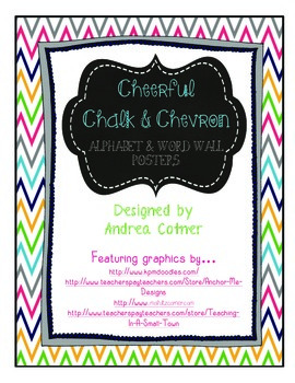 Chalk & Chevron Alphabet & Word Wall Set