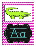 Chalk & Chevron Alphabet & Word Wall Set