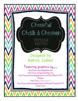 Chalk & Chevron Dismissal Circle Posters