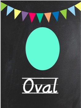 Chalk Classroom Decorations: 2D Shape Cards