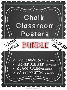Chalk Classroom Poster Bundle