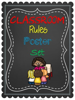 Chalk Classroom Rules Posters