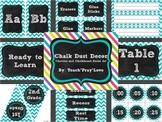 Chalk Dust Décor {A Turquoise Chevron and Chalkboard Décor Set}