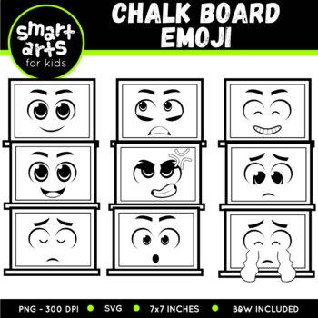 Chalkboard Emoji Clip Art