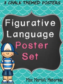 Chalk Figurative Language Poster Set