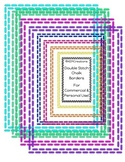 Chalk Font Double-Stitch Border Set {Personal & Commercial Use}