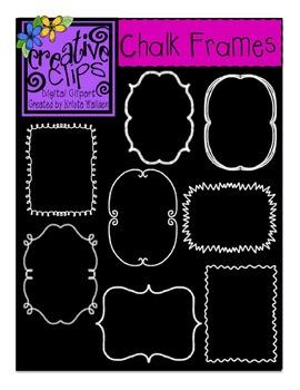 Chalk Frames/Borders {Creative Clips Digital Clipart}