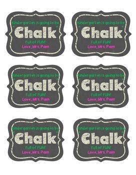 Chalk Full of Fun Editable Stickers