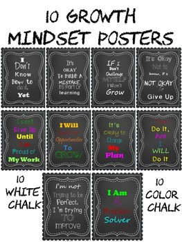 Chalk Growth Mindset Posters