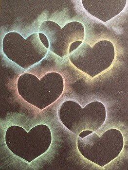 Chalk Heart Stencil Collage