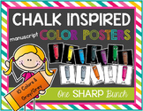 Chalk Inspired Color Posters {Manuscript}