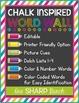 Chalk Inspired Editable Word Wall {D'Nealian}