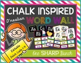 Chalk Inspired Editable Word Wall {D'Nealian}