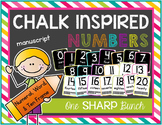 Chalk Inspired Number Posters {Manuscript}