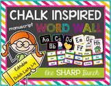 Chalk Inspired Editable Word Wall {Manuscript}