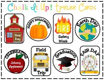 Chalk It Up! A Chalkboard Themed Classroom Timeline: A Teaching Tool Poster Set