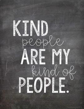 Chalk Kindness Posters #kindnessrocks