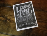 Chalk Lesson Plan Cover Page