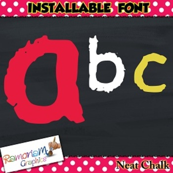 Chalk Letters font (INSTALLABLE)