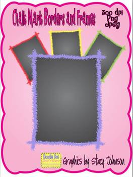 Chalk Mark Borders and Frames - Graphics for Commercial Use