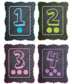 Chalk Number Posters 1-12