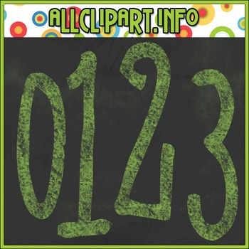 Chalk Numbers (Green)