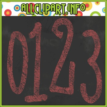 Chalk Numbers (Red)