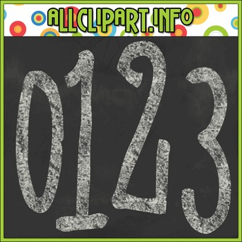 Chalk Numbers (White)
