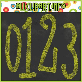 Chalk Numbers (Yellow)