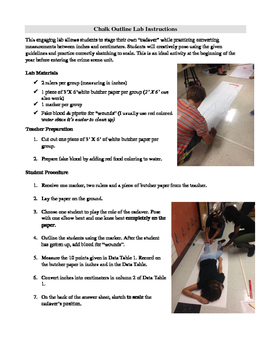 Chalk Outline Lab for Forensics