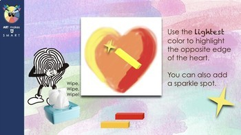 Chalk Pastel Heart Powerpoint- Easy for Any Grade