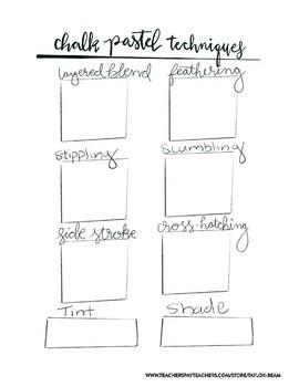 Chalk Pastel Technique Sheets