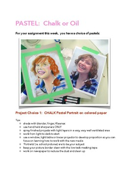 Chalk Pastel/Oil Pastel Assignment