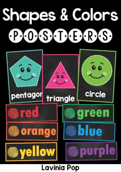 Chalkboard Posters Shapes and Colors